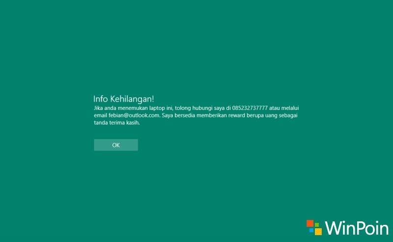 Dengan Cara Ini Kamu Bisa Menambahkan Pesan Apapun di Login Screen Windows