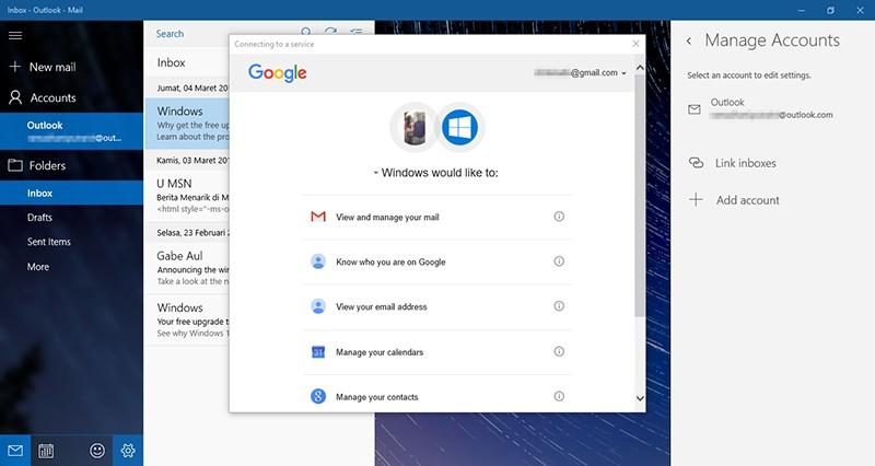 Cara Setting Email di Windows 10