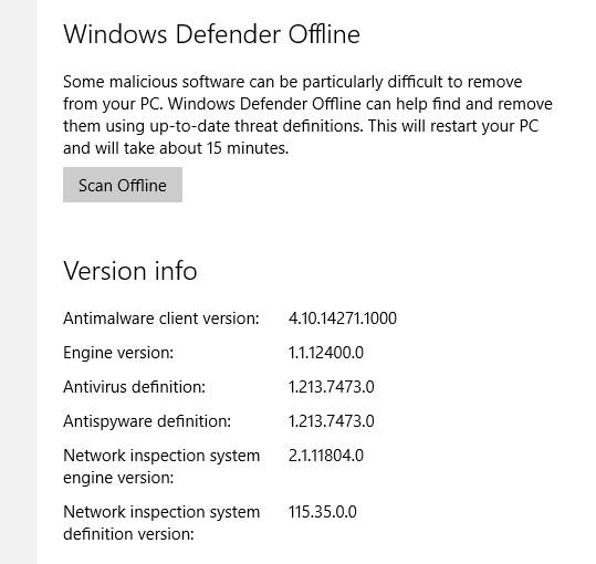 Di Build Insider Terbaru, Windows Defender Bisa Scanning Offline