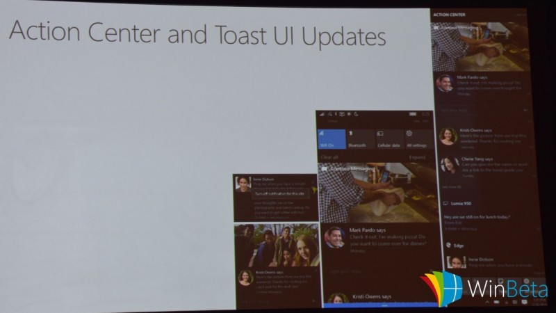 Action Centre baru Windows 10