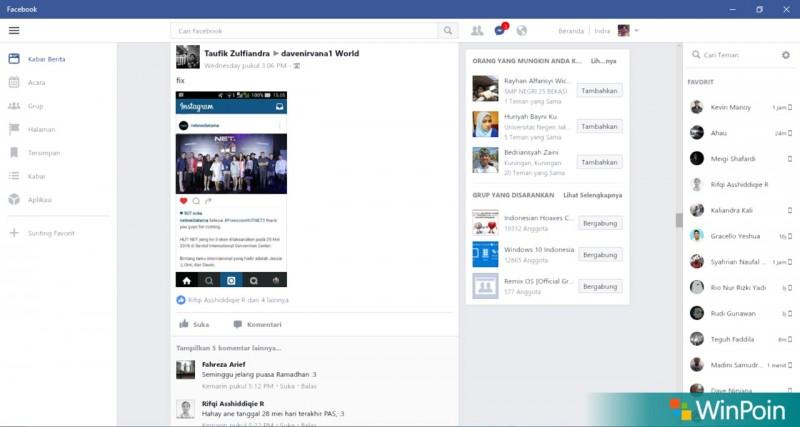 Facebook UWP Windows 10-2