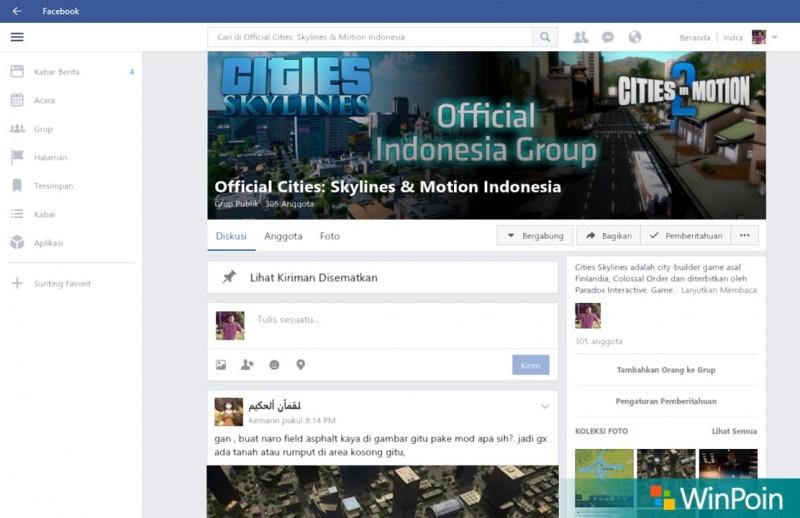 Facebook UWP Windows 10-3