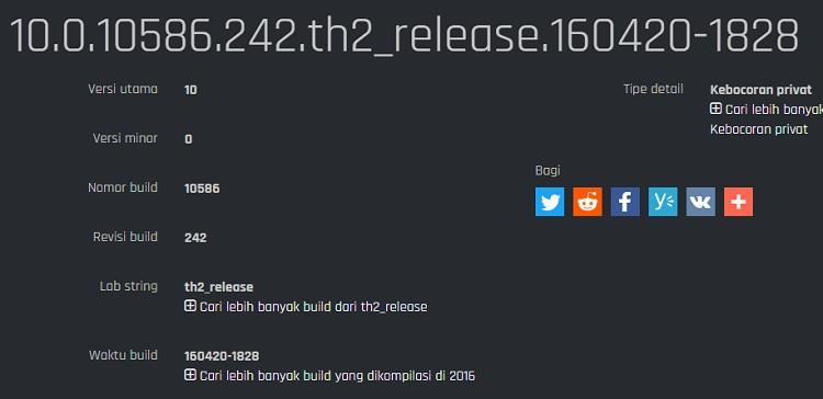 Windows 10 Mobile Build 10586.242