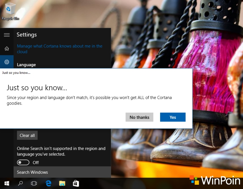 Cortana Windows 10 Bakal Bisa Diaktifkan Tanpa Harus Ganti Region