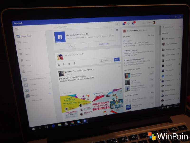 HOT: Aplikasi Official Facebook & FB Messenger untuk Windows 10 Sudah Dirilis