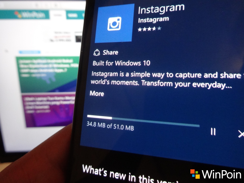 Cara Install Instagram di Windows 10 Mobile (Bagi yang Gagal Install)