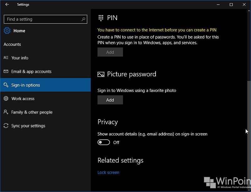 menampilkan atau menyembunyikan email address di lockscreen (1)