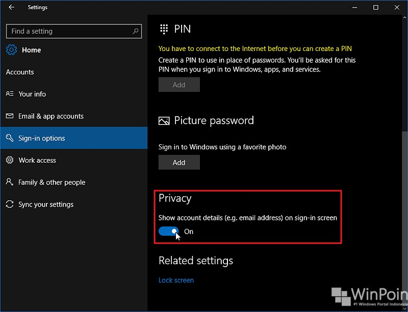menampilkan atau menyembunyikan email address di lockscreen (2)