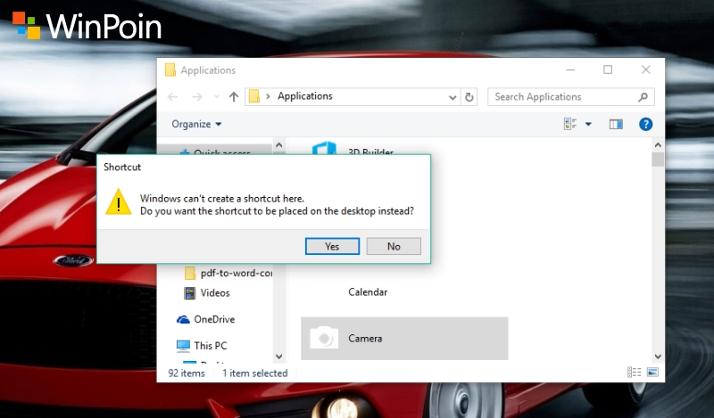 Cara Membuat Shortcut Modern Apps di Desktop Windows 10
