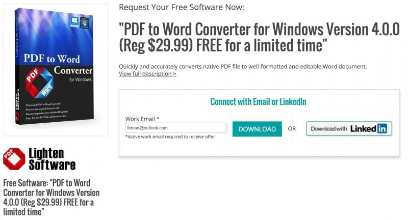 """Download Software + Lisensi """"PDF to Word Converter Pro"""" Senilai $29.99 (Gratis!)"""