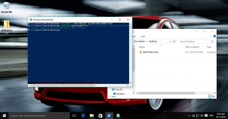 Cara Download File Melalui Command PowerShell Windows