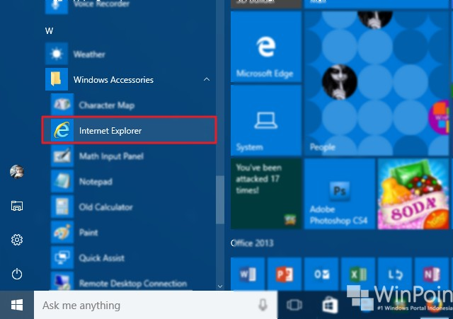 5 cara membuka internet explorer di windows 10 (4)