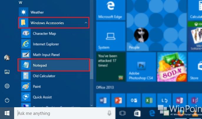 7 cara membuka notepad di windows 10 (4)