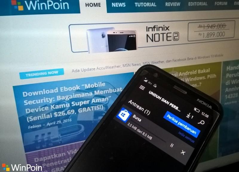 Windows Store di Windows 10 (PC dan Mobile) Mendapatkan Update