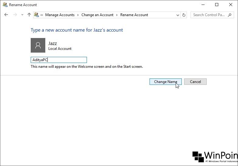 Cara Mengganti Nama Pada Layar Sign-In Windows 10
