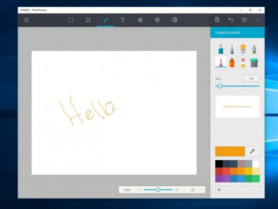 Aplikasi Paint Baru Untuk Windows 10 Anniversary Update Sudah Pada Tahap Preview