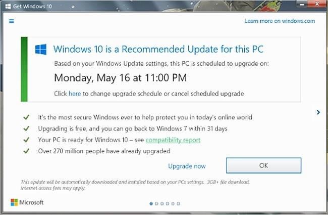 Windows 10 Schedule Upgrade