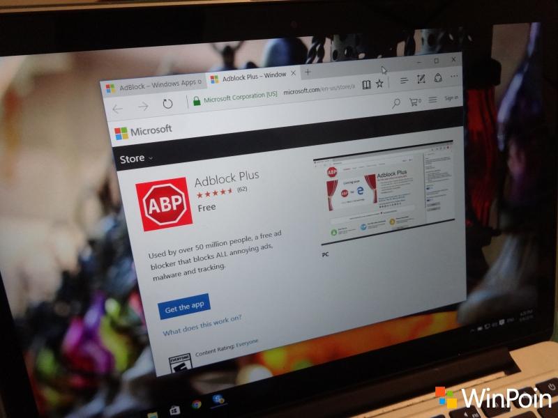 AdBlock & AdBlock Plus Sudah Bisa Didownload di Windows Store untuk Insider