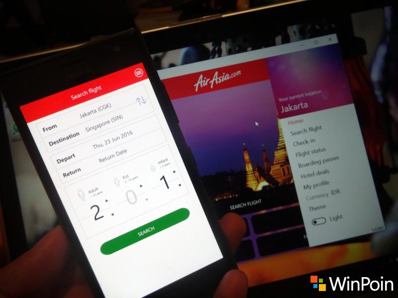 Aplikasi Air Asia untuk Windows 10 / Mobile Dirilis, Masih Penuh Bugs