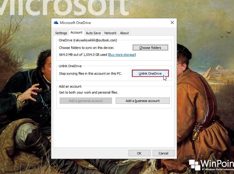 cara log out dari onedrive windows 10 (2)