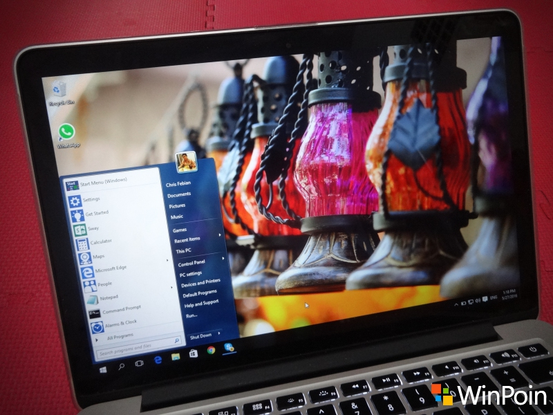 Cara Mendapatkan Start Menu Windows 7 di Windows 10