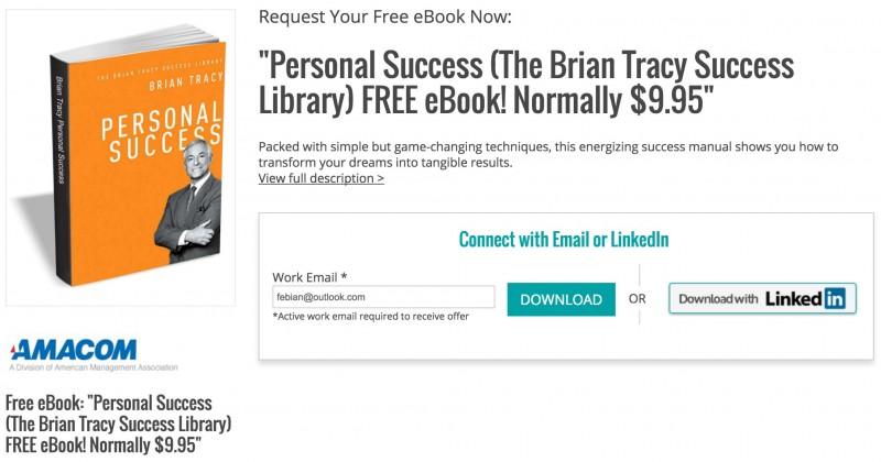Download Ebook: Personal Success, Kiat Sukses Meraih Mimpi (Senilai $9.95, Gratis!)