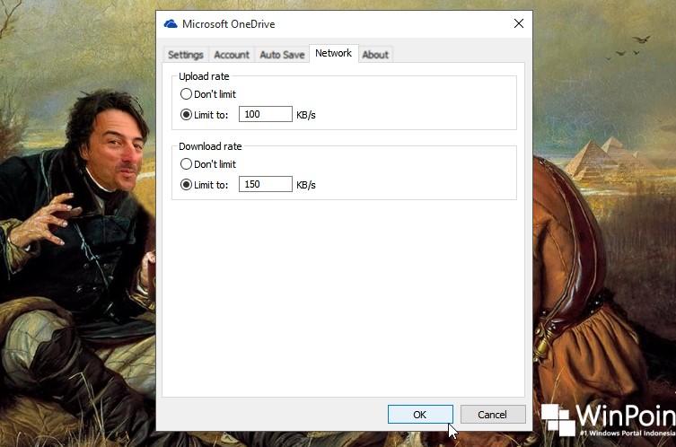 konfigurasi limit upload dan download di onedrive (2)