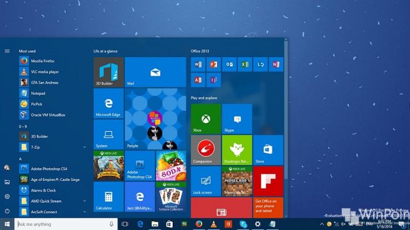 menambahkan kolom tile pada start menu windows 10 (2)