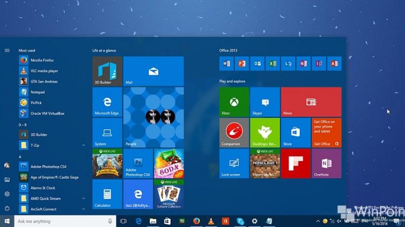 menambahkan kolom tile pada start menu windows 10 (3)