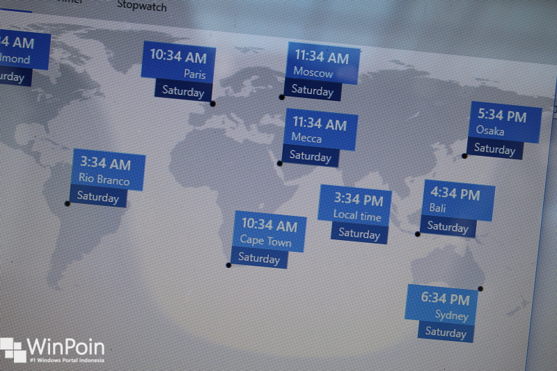 menggunakan world clock di windows 10 (1)
