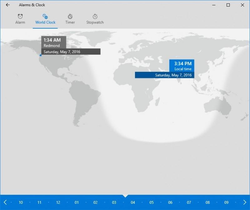 menggunakan world clock di windows 10 (5)