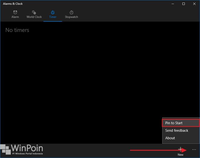 menyematkan timer dan stopwatch di windows 10 (2)