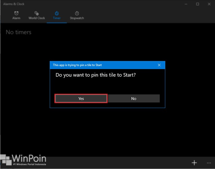 menyematkan timer dan stopwatch di windows 10 (3)