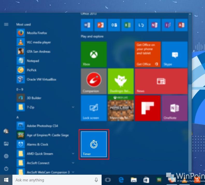 menyematkan timer dan stopwatch di windows 10 (4)