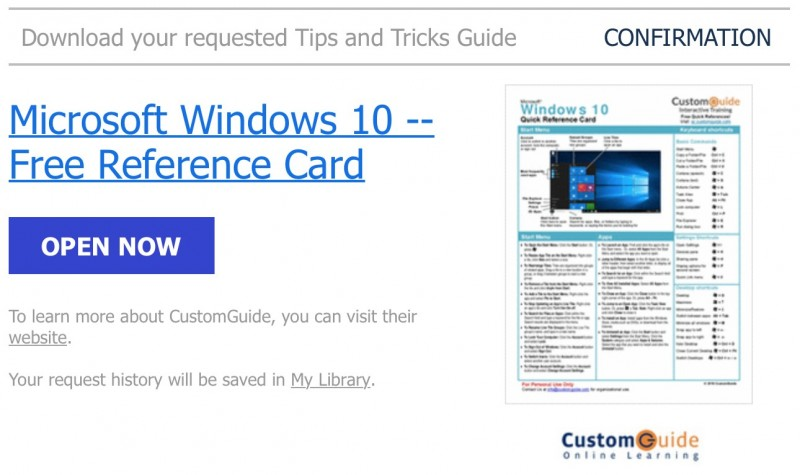 Gratis: Download Reference Card Windows 10 dan Microsoft Office 2016