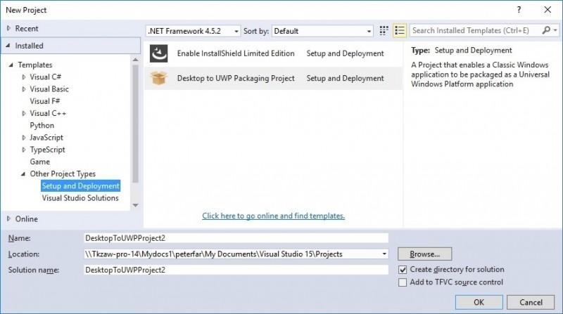 Convert Desktop App ke UWP Lebih Mudah Lagi dengan Visual Studio 15