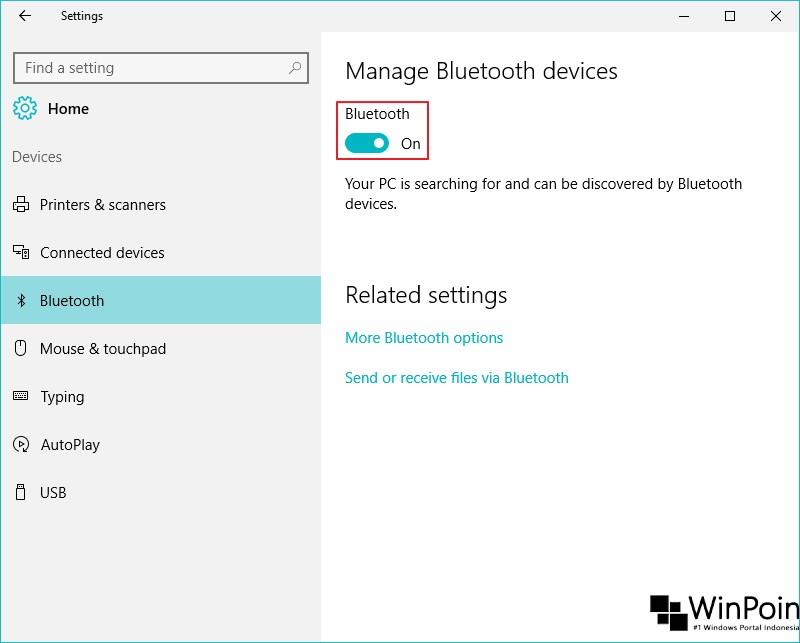 Cara Mengaktifkan dan Menon-aktifkan Bluetooth di Windows 10 (3)