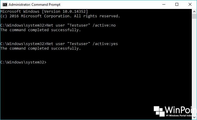 Cara Mengaktifkan dan Menonaktifkan User di Windows 10 (5)