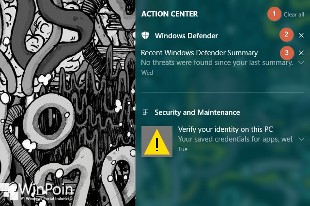 Cara Menghapus Notifikasi dari Action Center Windows 10 (2)