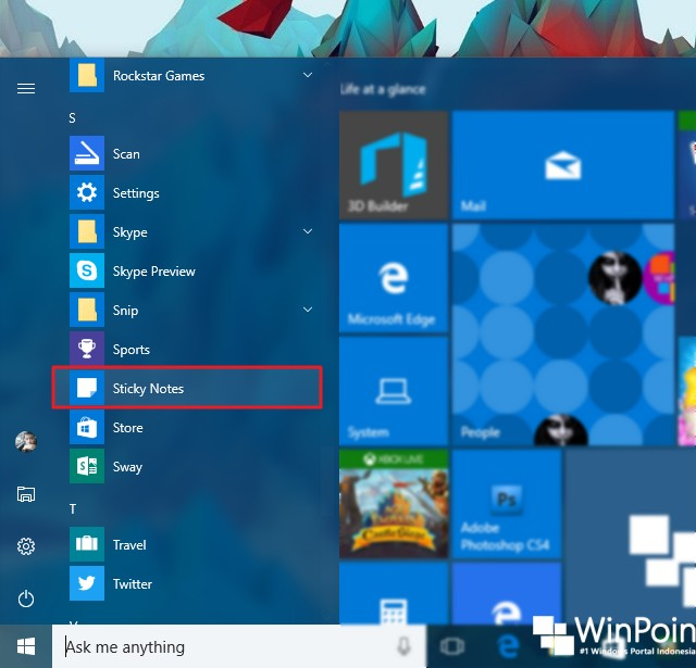 Cara Mengirim Email Melalui Sticky Notes di Windows 10 (1)
