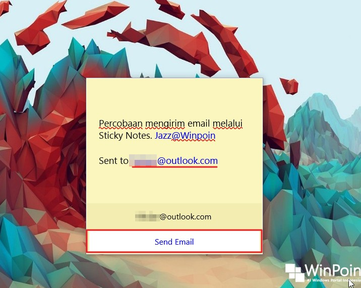 Cara Mengirim Email Melalui Sticky Notes di Windows 10 (3)