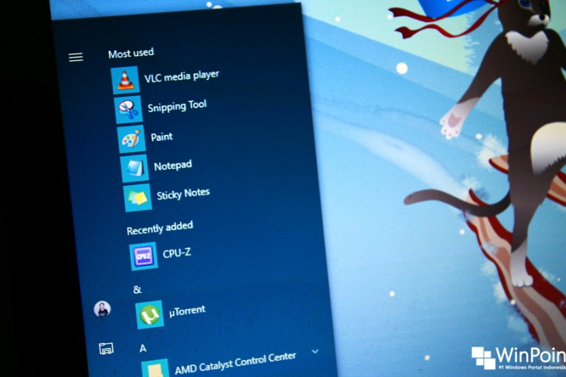 Cara Menyembunyikan 'Most used' dan 'Recently add' Apps di Start Menu Windows 10 (1)