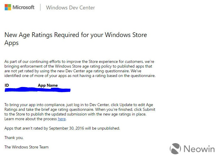 Rating Umur Windows Store Microsoft