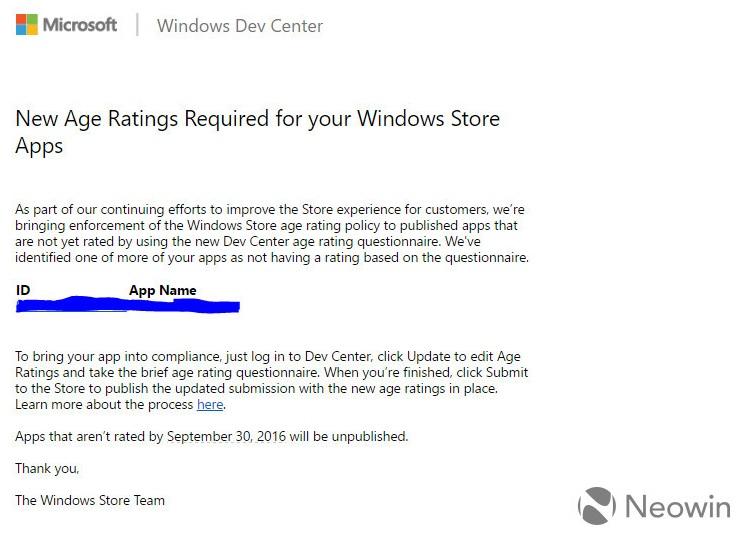 Rating Umur Windows Store Microsoft