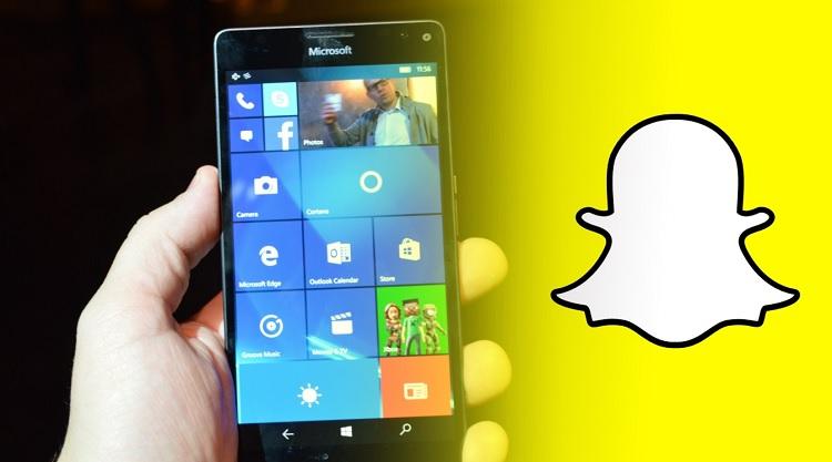 Snapchat Windows Phone Ilustrasi