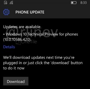 Windows 10 Mobile Build 10586.420-1