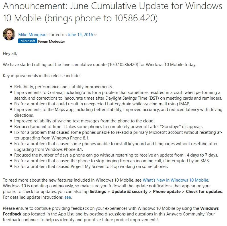 Windows 10 build 10586.420