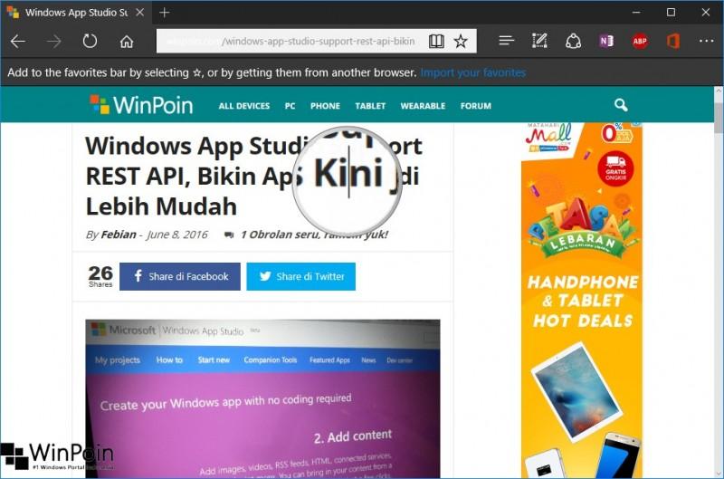 cara mengaktifkan caret browser di edge (2)