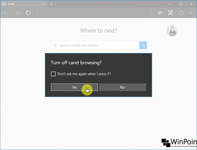 cara mengaktifkan caret browser di edge (3)