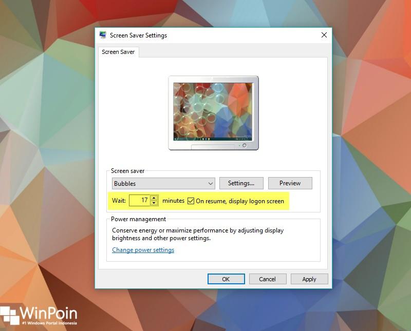cara mengaktifkan screensaver di windows 10 (5)